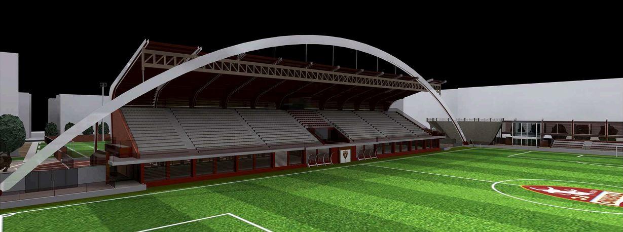 Inquadratura della tribuna principale del Fila, vista dal campo