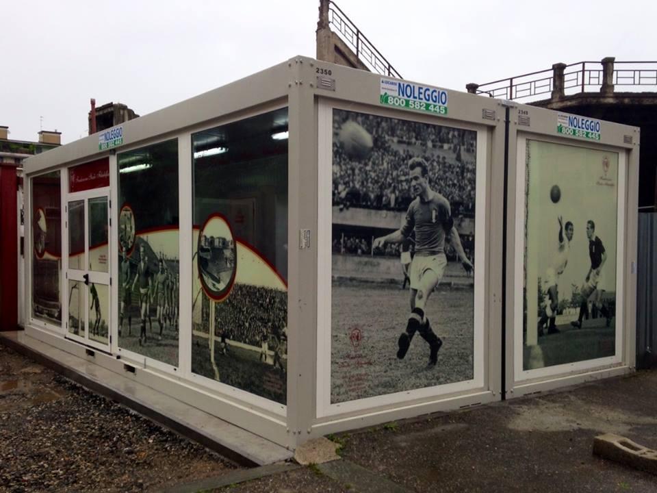 Il container che dovrà fungere da ufficio della Fondazione e centro informazione per i tifosi (foto attila, forum ForzaToro.net)